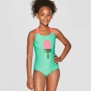 Sequined Watermelon Popsicle One Piece Swimsuit 8